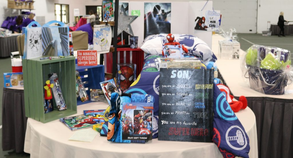 Just one of the amazing silent auction baskets.
